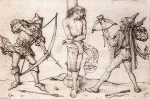 Master Of The Housebook - St. Sebastian mit Archers