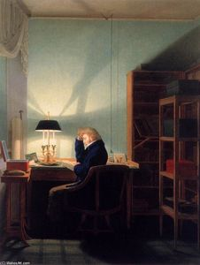 Georg Friedrich Kersting - Ein Mann liest in Lamplight