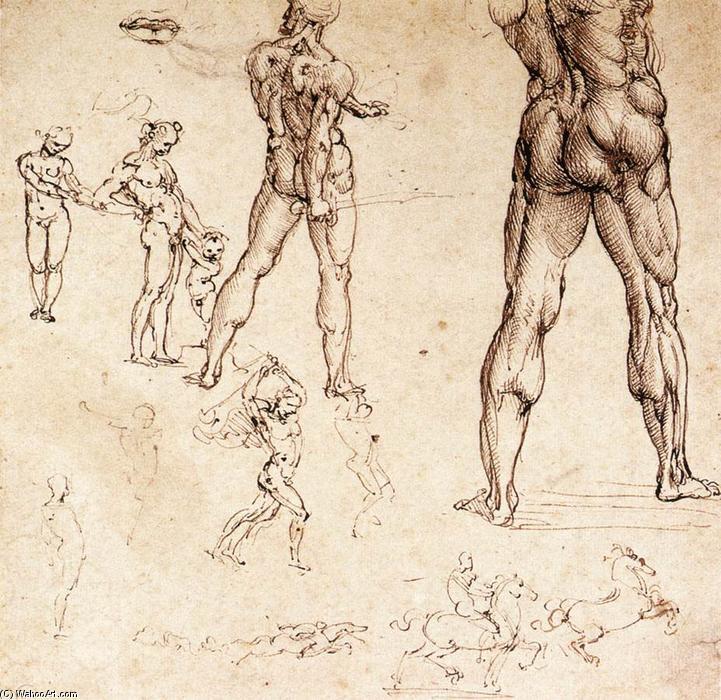 Anatomische Studien, stift von Leonardo Da Vinci (1452-1519, Italy)