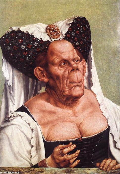 The Ugly Duchess, öl von Quentin Massys (1466-1530, Belgium)