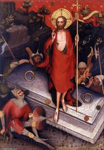 Master Of The Trebon Altarpiece - der wiederauferstehung