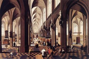 Peeter Neeffs The Younger - Inneres of Antwerp Kathedrale