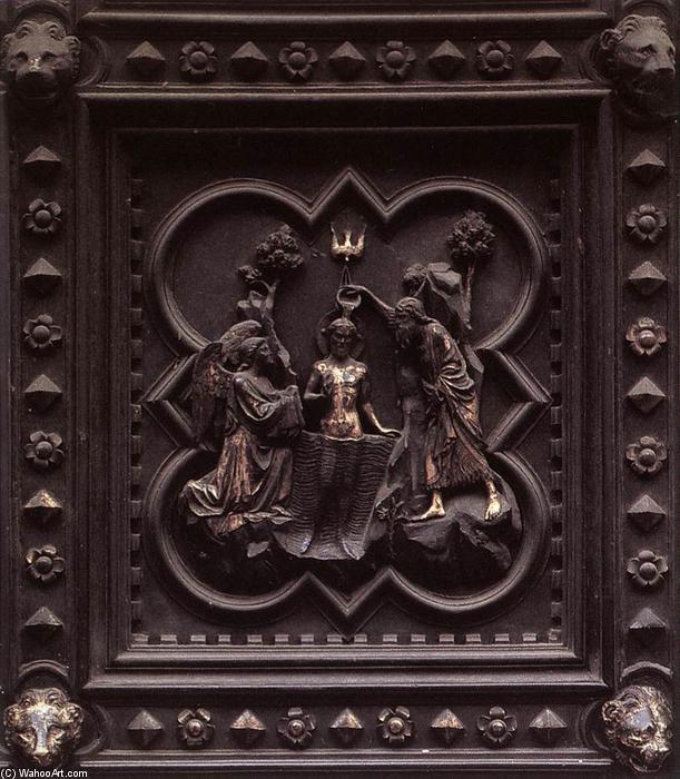 taufe christi tafeln von den nach s den t ren bronze von andrea pisano 1290 1348 italy. Black Bedroom Furniture Sets. Home Design Ideas