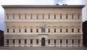 Antonio Da Sangallo The Younger - Fassade des Palazzo Farnese