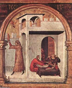 Simone Martini - Altar of Str Louis of Toulouse ( ausschnitt )