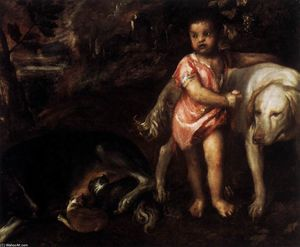 Tiziano Vecellio (Titian) - Jugend Ankopplung Hunde