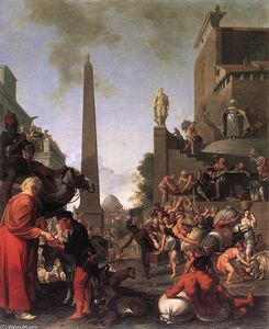 Bartholomeus Breenbergh - Joseph Weizen Selling to the People