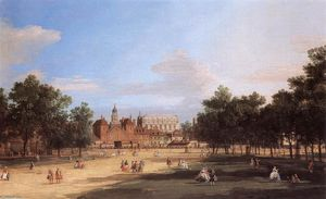 Giovanni Antonio Canal (Canaletto) - London: der Old Horse Guards und Festsaal, aus St. James Park