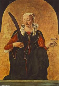 Francesco Del Cossa - Griffoni Polyptych: St Lucy