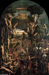 Vittore Carpaccio - Kreuzigung und Apotheose der Ten Thousand Martyrs