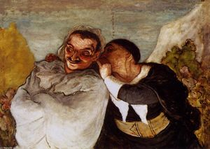 Honoré Daumier - Crispin und Scapin