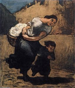 Honoré Daumier - Load (Washerwoman)