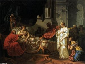 Jacques Louis David - Antiochus und Stratonica