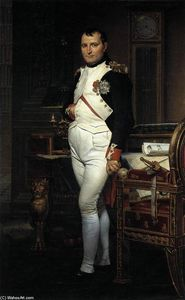 Jacques Louis David - Napoleon in seiner Studie