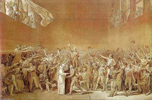 Jacques Louis David - Der Schwur der Tennisplatz