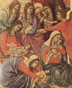 Duccio Di Buoninsegna - Slaughter of the Innocents (Detail)