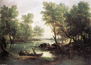Thomas Gainsborough - fluss landschaft