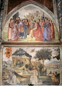 Domenico Ghirlandaio - Links wall of die sassetti Kapelle ( ausschnitt )