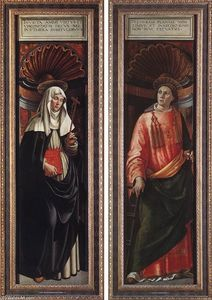 Domenico Ghirlandaio - Str Catherine of Siena und st Lawrence