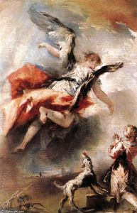 Gianantonio Guardi - Der Angel Scheint Tobias