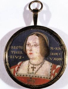 Lucas Horenbout - Porträt of Catherine of Aragon