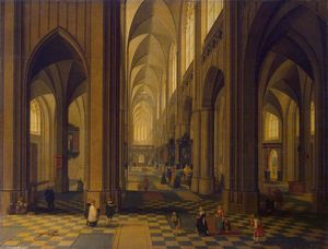 Peeter Neeffs The Younger - Innenraum of der Antwerp Kathedrale