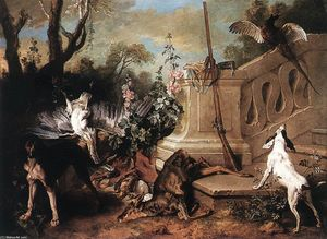 Jean-Baptiste Oudry - Tote Roe
