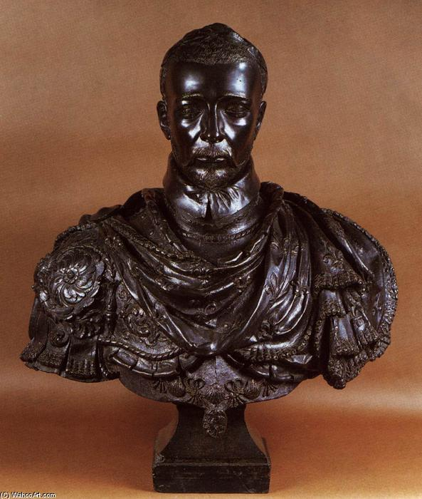 Charles IX of France, bronze- von Germain Pilon (1528-1590, France)