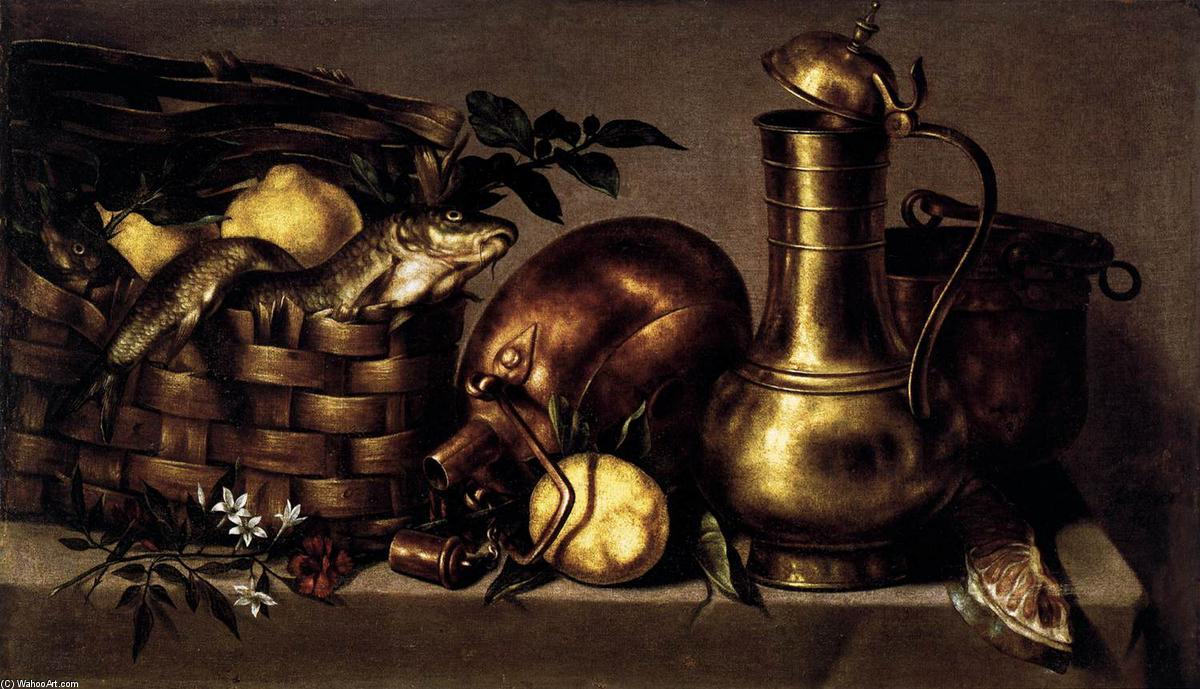 Stilleben an den küche, öl an segeltuch von Antonio Ponce De Santa ...