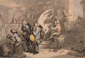 Thomas Rowlandson - Sculptor-Shop