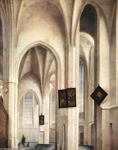 Pieter Jansz Saenredam - Inneres of die st Jacob Church im Utrecht