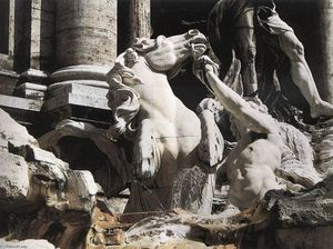 Niccolò Salvi - Fountain of Trevi ( ausschnitt )