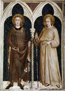 Simone Martini - Str Louis of France und st Louis of Toulouse
