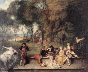 Jean Antoine Watteau - Merry Company in der Open Air