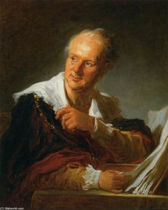 Jean-Honoré Fragonard - Denis Diderot (Fanciful Abbildung)