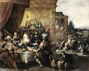 Frans Francken The Younger - Fest der Esther