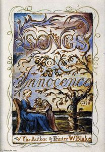 William Blake - Songs of Innocence (Titelseite)