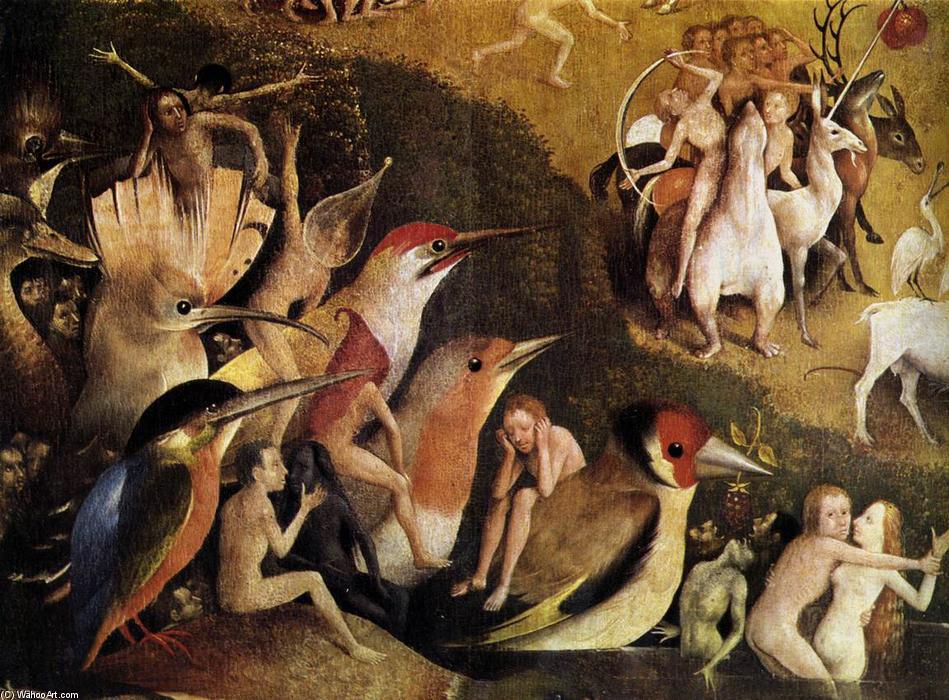 Triptychon Der Garten Der L Ste Detail 50 L Auf Tafel Von Hieronymus Bosch 1450 1516