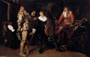 Pieter Codde - Actors Changing Room