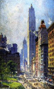 Colin Campbell Cooper - Senken Sie Broadway in Wartime