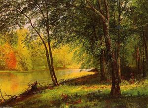 Albert Bierstadt - Merced Fluss Kalifornien