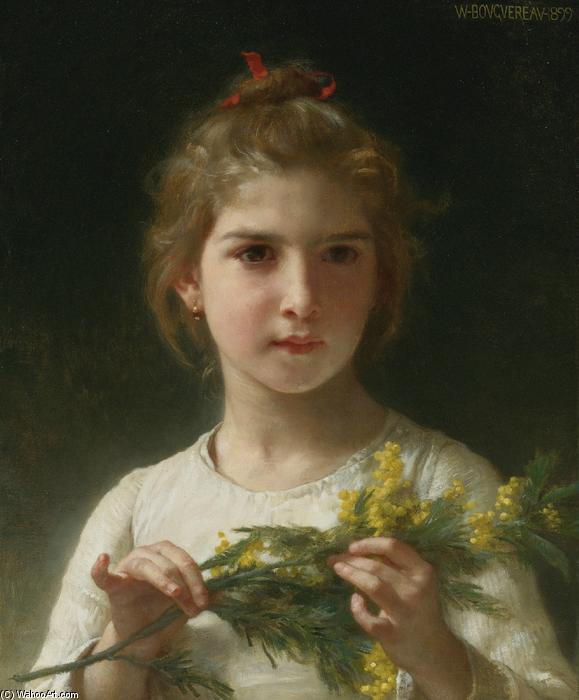 Mimose, öl auf leinwand von William Adolphe Bouguereau (1825-1905, France)