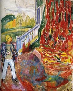Edvard Munch - Modell in Front of null null