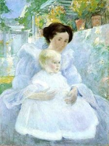 John Henry Twachtman - mutter und kind