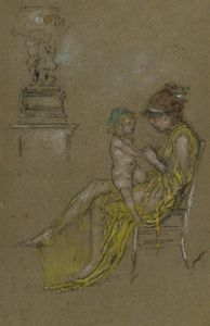 James Abbott Mcneill Whistler - mutter und kind