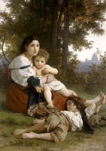 William Adolphe Bouguereau - mutter und kinder