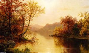 Louis Remy Mignot - berg see an  Herbst