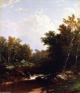 John William Casilear - berg fluss Landschaft ein