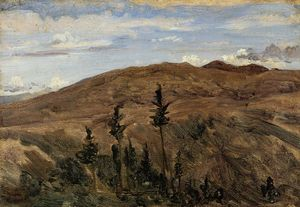 Jean Baptiste Camille Corot - Mountains in Auvergne