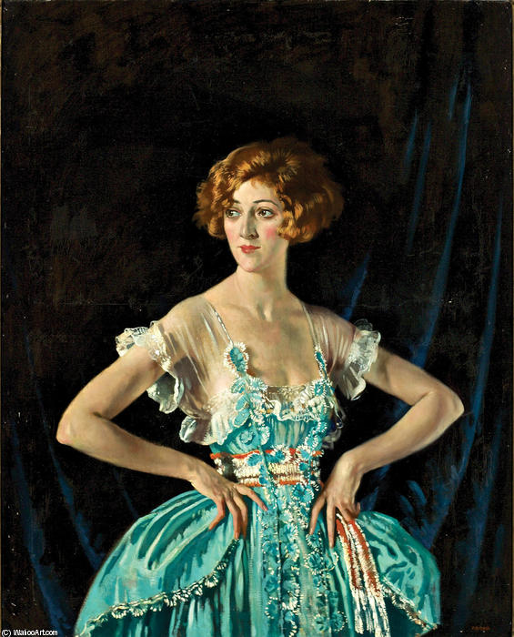 Mrs. Rubin Melville, 1920 von William Newenham Montague Orpen (1878-1931, Ireland) | Kunst-Wiedergabe | WahooArt.com
